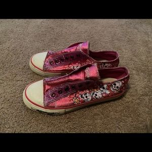 Ed Hardy pink shoes